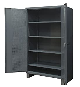 Exceptionnel Pegboard Cabinet, 78x36x24, 4 Shelves