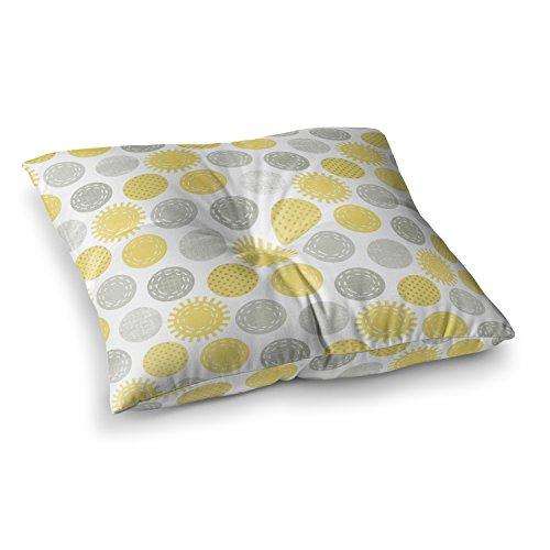 Sunspot Bedding (KESS InHouse Heidi Jennings Sunspot Yellow Spots Square Floor Pillow x 23