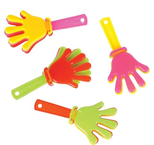 ~ 144 ~ Mini Hand Clappers / Clakkers ~ 3'' Long ~ New ~ Party Favors, Noisemakers by Rinco