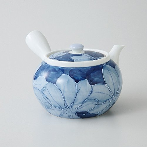 saikai pottery Kyusu (Medium Japanese teapot) Blue flower pattern 99184 from Japan by saikai