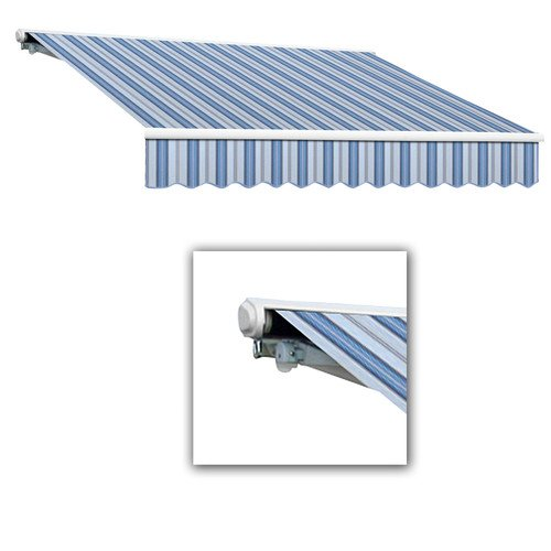 10' Galveston Semi Cassette - Awntech 10-Feet Galveston Semi-Cassette Manual Retractable Awning, 96-Inch Projection, Blue Multi