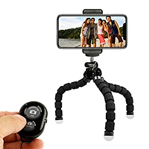 KobraTech Cell Phone Tripod - TriFlex Mini - Flexible Tripod iPhone & Android + Bluetooth Remote