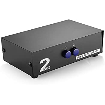 Amazoncom ESDS 2Way AV Switch RCA Switcher 2 In 1 Out Composite