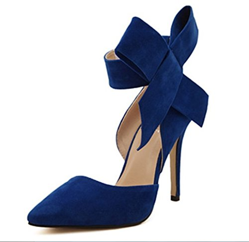 Mano Heels Lady Sandalias High Suede Ultimate Bride Azul A Liangxie Peeps Hollow Large Heelsxiaoqi Shoes Butterfly Hechas Tip EzRq4xwnx