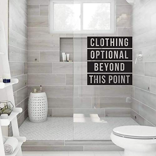 Vinyl Wall Art Decal - Clothing Optional Beyond This Point - 30