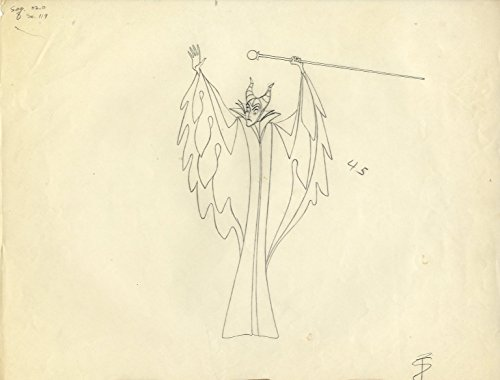 Original Production Drawing - Original Maleficent from Disney's Sleeping Beauty (1959) - one of a kind Animation Production Drawing