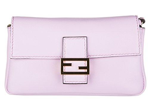 Fendi sac à l'épaule femme en cuir micro baguette rose