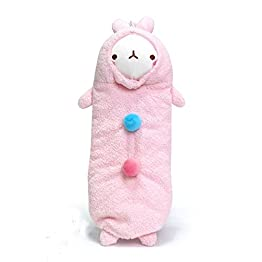 Molang Rabbit - Pink | 10 Inch | Kawaii Pencil Case 11