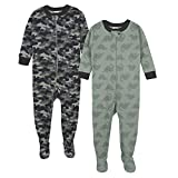 GERBER Baby Boys Organic 2 Pack Cotton Footed