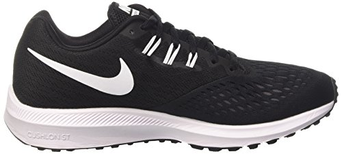 Nike Zoom Winflo 4, Zapatillas de Entrenamiento para Hombre Negro (Black/white/dk Grey)