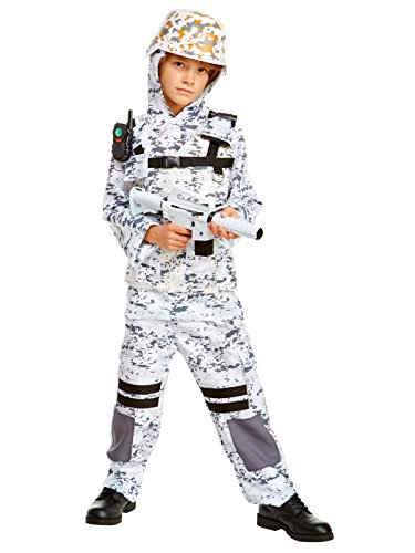 Winter Camo Stealth Soldier Child Costume (Halloween Costumes Face Paint Only)