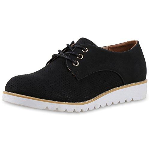 napoli-fashion - Zapatos de vestir brogues Mujer Schwarz Lochung