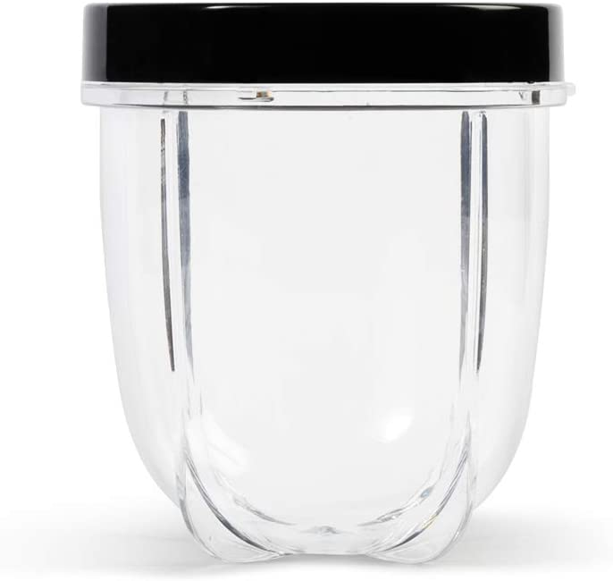 Magic Bullet MBM-U0231 12 oz Short Cup with Resealable Lid, Clear/Black