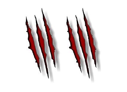 amazon com 2 ripped claw marks 9 vinyl sticker decals raptor