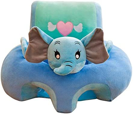 Sofa Support Seat Cover,Floral Print Baby Support Seat Sofa Cover Animal Shaped Baby Learning to Sit Chair Keep Sitting Posture Comfortable for 0-12 Months Baby A
