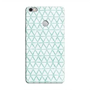 Cover It Up - Triangle Print Blue Mi Max Hard Case