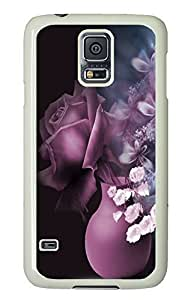 Samsung S5 cases coolest Flower Pattern 5 PC White Custom Samsung Galaxy S5 Case Cover