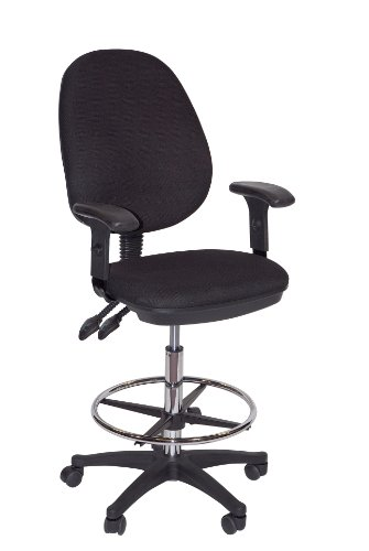 Martin Grandeur Manager's Draft High Chair, Fabric, Black