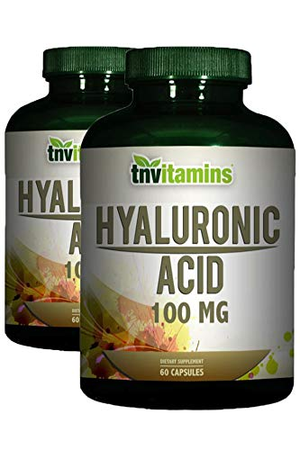 2 X 60 Capsules - Hyaluronic Acid 100 Mg by TNVitamins 120 Capsules (2 x 60)