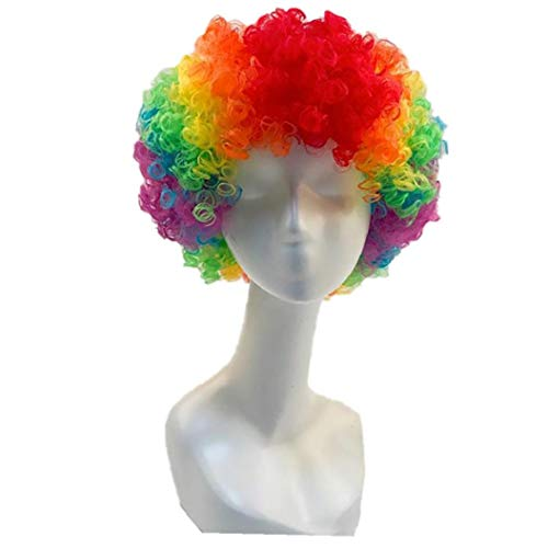 Carnival Party Wigs For Masquerade Halloween Christmas Dress Clown Costume Cosplay Football Fans Children Adult Party Hats]()