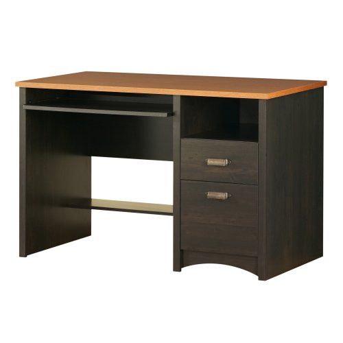 South Shore 7378070 Furniture Gascony Collection, Desk, Ebony and Spice Wood
