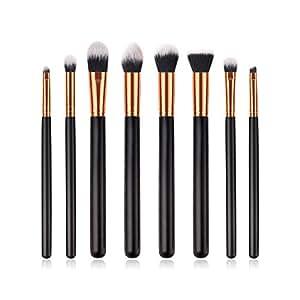 CAOLATOR 8 piezas Set de brochas de maquillaje profesional Herramienta de maquillaje fácil eficaz y profesional.