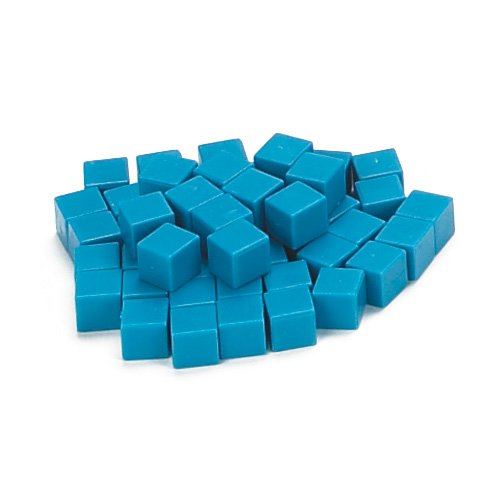 EAI Education Base Ten Units: Blue Plastic - Set of 1000 ()