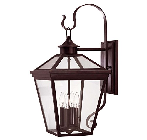 Savoy House 5-142-13 Outdoor Sconce with Clear Shades, English Bronze - Entrance English Bronze