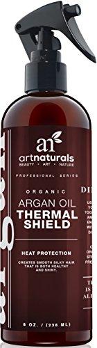 Protecteur de cheveux thermique art Naturals 8,0 Oz - meilleure protection vaporisateur contre la chaleur du fer plat - contient 100 % argan bio prévention des dommages, bris & pointes fourchues - Made in USA - Sulfate gratuite