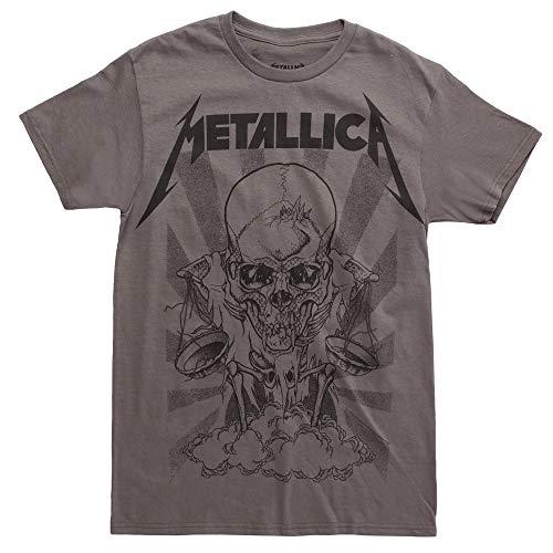 Metallica Pushead Boris T-Shirt - Charcoal (Large) (Metallica Jump In The Fire T Shirt)
