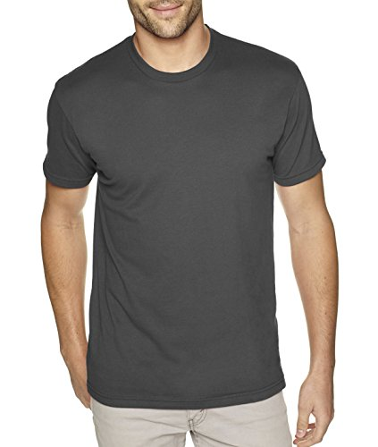 Next Level Apparel 6410 Mens Premium Fitted Sueded Crew Tee - Heavy Metal44; 2XL from Next Level Apparel