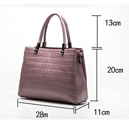 HAOYUXIANG Nouveau cuir femelle Bao Chao sac à main crocodile motif vachette épaule unique diagonale cross pack (Couleur : Noir) oE6BkV
