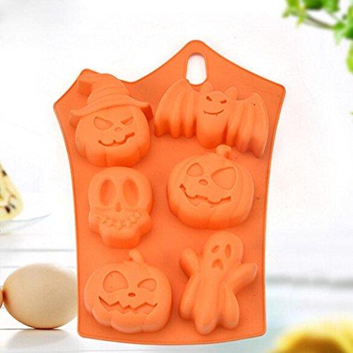 (Iusun Halloween Silicone Pumpkin Cake Mold Kitchen Bake Tools Cake Mould)