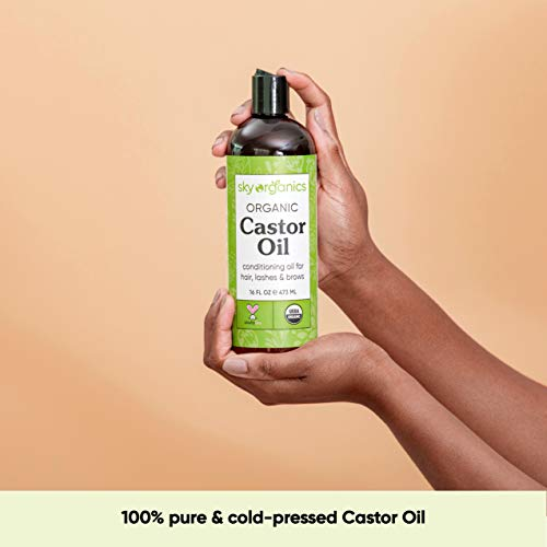 Castor Oil USDA Organic Cold-Pressed (16oz) 100% Pure Hexane-Free Castor Oil - Conditioning & Healing, For Dry Skin… 6