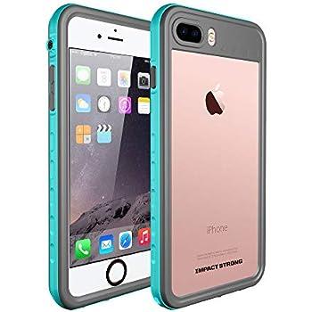 3212980a6f iPhone 7/8 Plus Waterproof Case, ImpactStrong [Fingerprint ID Compatible]  Slim Full Body Protection Cover for Apple iPhone 7 Plus and iPhone 8 Plus  5.5 inch ...