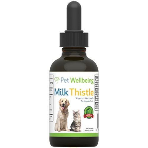 Pet Wellbeing - Milk Thistle For Dogs - Natural Glycerin Based Milk Thistle For Dogs - 2 Ounce (59 Milliliter)