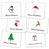 Kuuqa 36 Pieces Merry Christmas Greeting Cards Holiday Cards with Envelopes and Stickers, 4.72 x 7.87 Inches