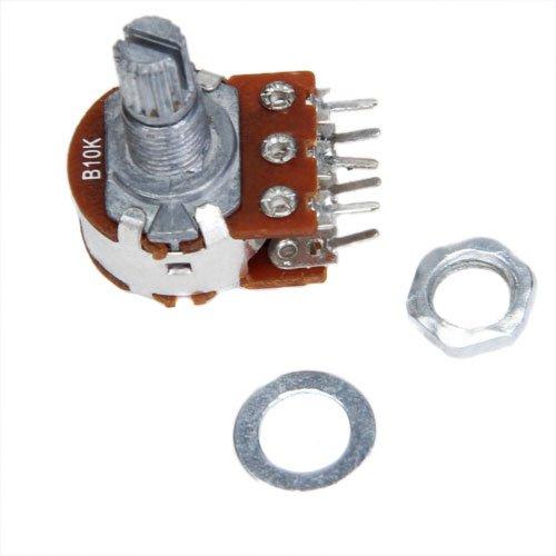 TOOGOO(R) 10pcs B10K Dual Stereo Potentiometer with 15mm Split (Stereo Potentiometer)