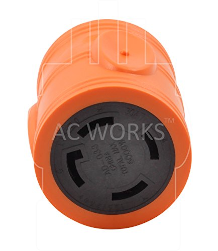 AC WORKS [ADL630L1430] Locking Adapter L6-30P 30Amp 250Volt Locking Plug to 4-Prong 30Amp L14-30R Adapter by AC WORKS (Image #3)