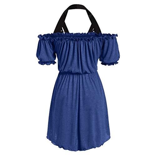 Plus Size Skirts for Women Midi Length,Londony ✡ Ladies 1950s Retro Vintage A-Line Cap Sleeve Cocktail Swing Party Dress Blue