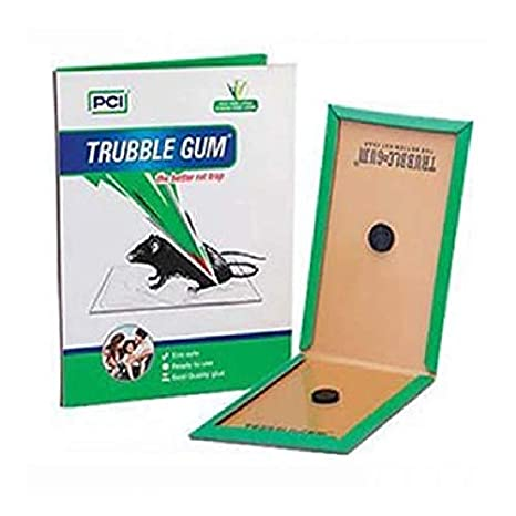 AllOut India- PCI TRUBBLE Gum-Rats/Mouse Non-Toxic Glue Trap- Use for Rats Control Eco Safe, Ready to use Glue (Pack of 10 Pieces)