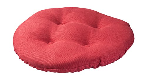 Twillo Bar Stool Seat Cushion - Tufted Round Stool Cover Non-slip Seat Cushion - Padded for Comfortable Sitting - 13 Inch Red