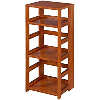 Amazon Com Stony Edge Fbc 16 Na No Assembly Folding Bookcase Natural Wood Home Amp Kitchen