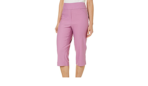 Alfred Dunner Womens Classic Fit Allure Clam Digger Pant