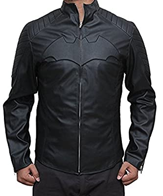 Decrum Mens Bomber Leather Biker Jackets - Distressed Vintage Black and Brown Coat and Jackets