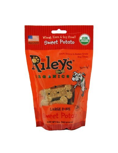 - Riley's Organics - Sweet Potato - 5 oz Large Biscuits - Human Grade Organic Dog Treats - Resealable Bag