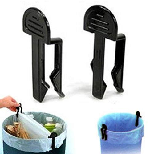 Che-good Bag Clips - Fixed Waste Bin Bag Holder Durable Garbage Clips Portable Plastic Trash Can Clamp 10pcs Creative - Cheap Aluminum Harley Cat Ring Round Set Blue Ikea Sticks ()