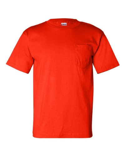 Bayside USA-Made Short Sleeve T-Shirt with a Pocket. 7100 XL Bright - Marketplace Bayside Stores