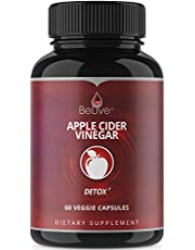 Apple Cider Vinegar Pills - Detox Support Cleanse Diet Pure Capsules Bloating Relief Weight Loss Pill & Metabolism Booster Supplements for Women and Men - Recommended Strength 1250 mg Organic