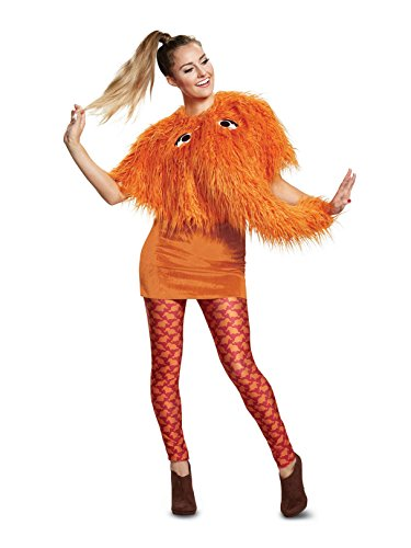 Disguise Women's Snuffy Ladies Deluxe Adult Costume, Orange, M (8-10) -